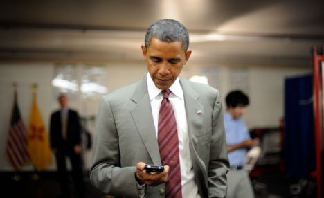 Obama on BlackBerry Smartphone